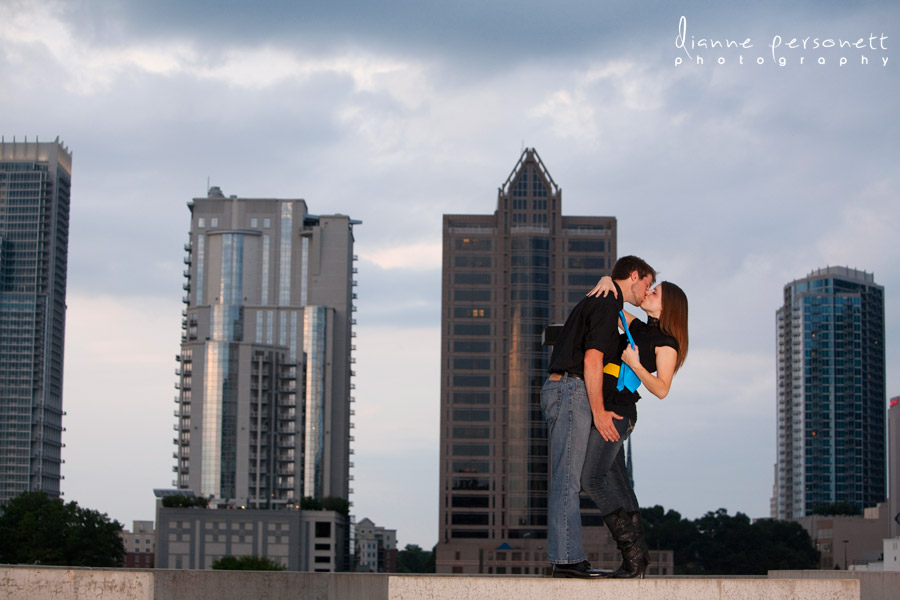 Charlotte Uptown engagement photos