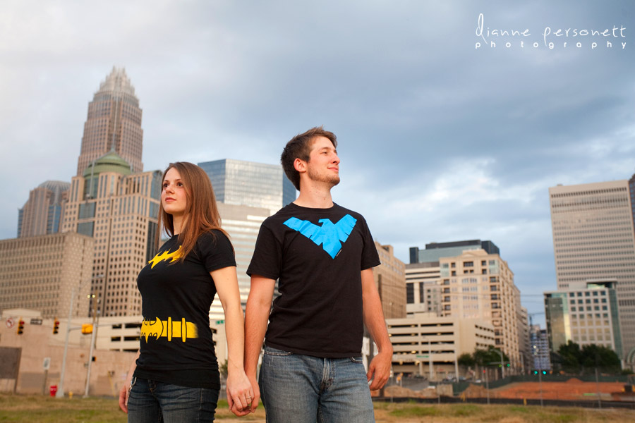 Charlotte Uptown engagement session