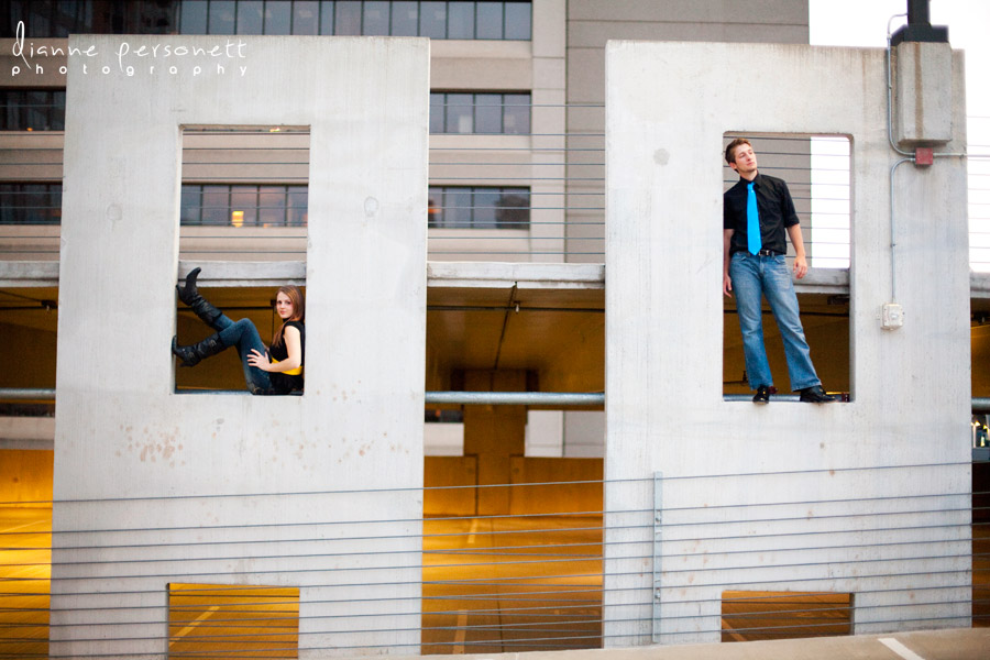 Engagement photos with a city/urban feel in Charlotte