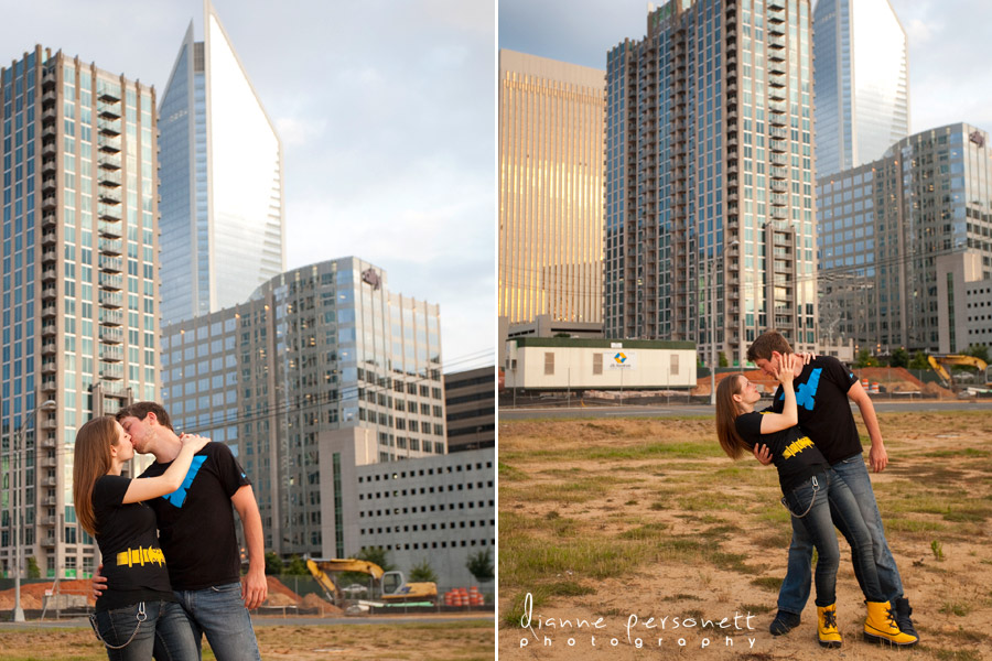 engagement photos with a city/urban feel, charlotte