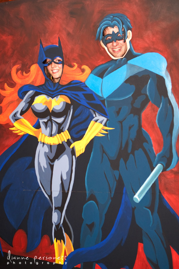 batgirl and nightwing themed wedding