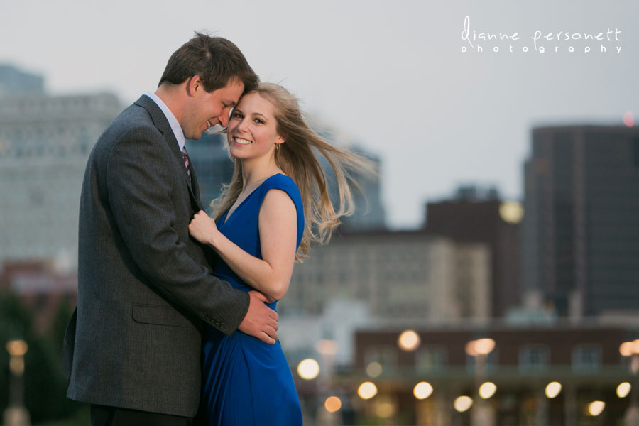 Downtown Greensboro NC engagement photos