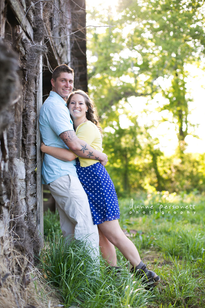 engagement photos at a barn mooresville nc