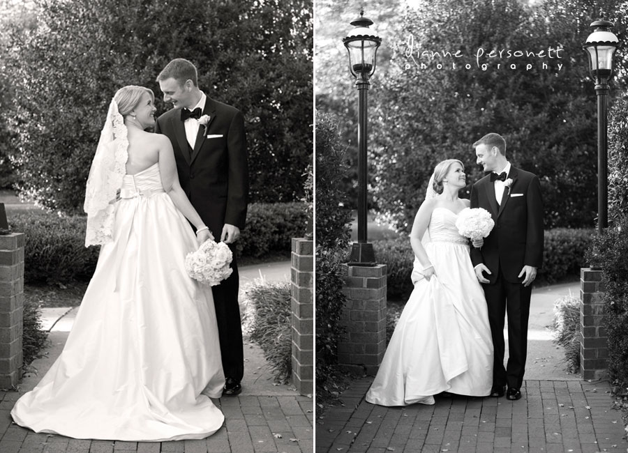 wedding photographer at carmel country club charlotte nc