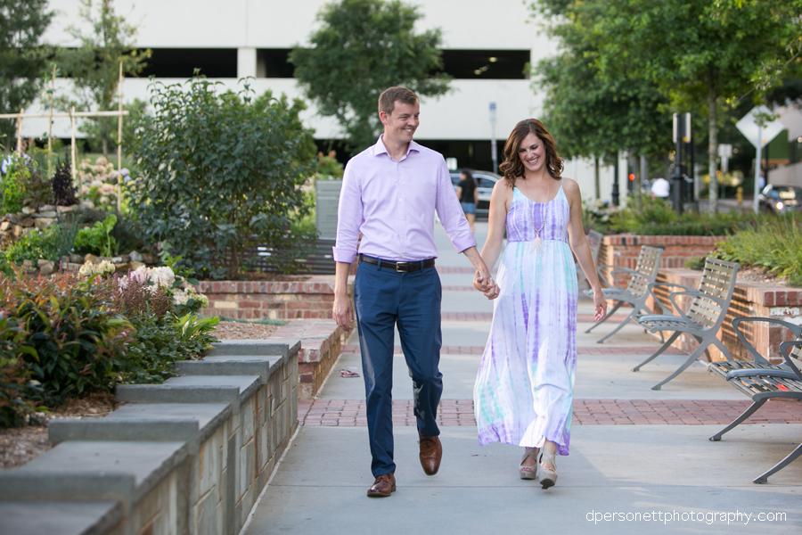 romare bearden park charlotte engagement photos