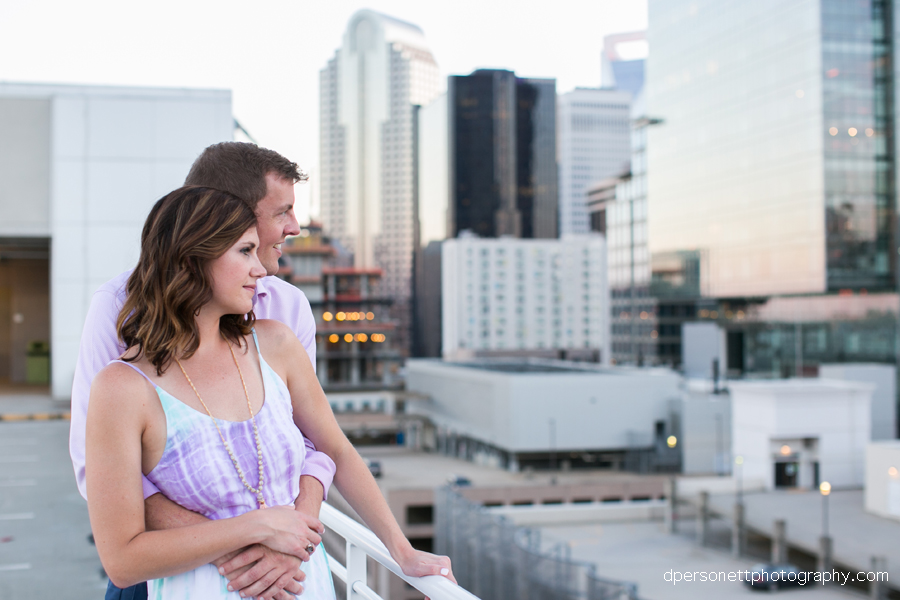 uptown charlotte engagement photos