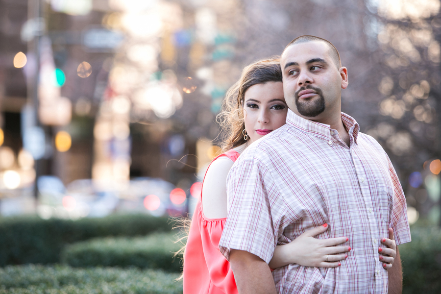 uptown charlotte engagement photo session